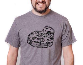 chicago pizza tshirt, state pride tshirt, chicago tshirt, pizza tshirt, deep dish pizza tshirt, chicago love
