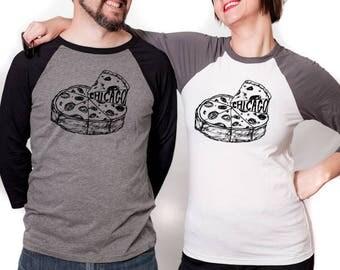 chicago pizza baseball tshirt, pizza shirt, chicago t, chicago tshirt, silkscreen shirt, men's tshirt, men's gift idea, free ship