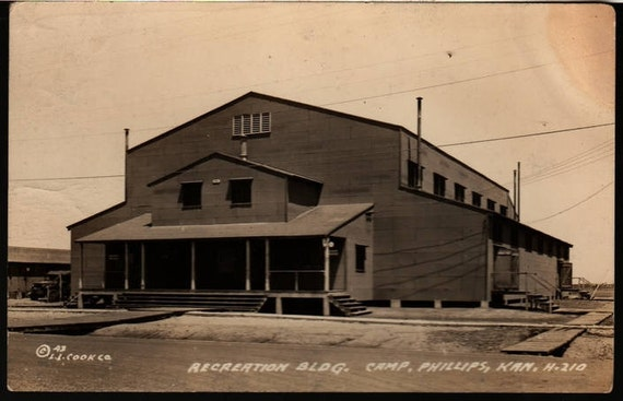 Recreation Building Camp - Phillips, Kansas - Vintage Postcard