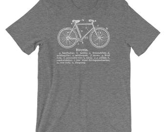 Valentines Gift for Him- Clothing Gift- Brother Gift- Bicycle T-shirt- Bike Gift for Him- Bicycle Gifts for Men- Gifts Vintage Bicycle Shirt