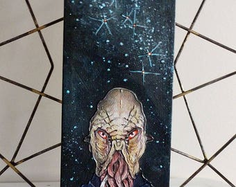 Ood Original Painting 4x12 Doctor Who Fan Art