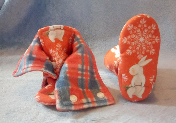 Winter Bunny: Soft Sole Baby Boots 3-6M