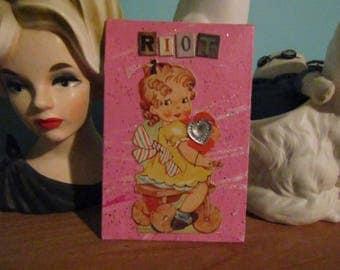 Lil Riot Valentine {Original Collage}