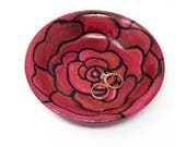 Hand Painted Rose Bowl - ...