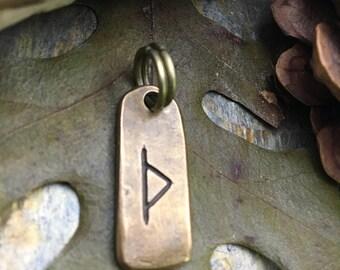 Thurisaz Rune, Nordic Runes, Bronze Rune Pendant, Viking Runes, Rune Charms, Rune Jewelry, Nordic Jewelry, Elder Futhark, Viking Jewelry
