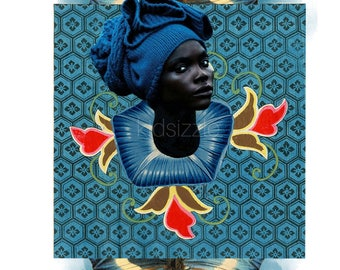 afro blue print