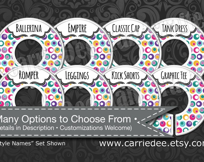 Dot Dot Smile Rack Dividers - Styles Dividers & Size Dividers Available, Consultant, WRKdesigns Polka Dots Design, DotDotSmile DDS