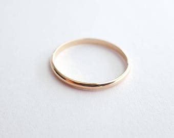 2mm Half round gold filled ring - simple everyday ring - delicate stacking jewelry- minimal ring - Cara ring GF