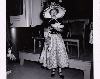 The Hat Lady - Found Photograph - Original Photograph, Vintage Photo,  Photography, Snapshot, Portrait, Old photo
