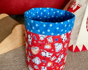 Kitty Cats Cat Toy Basket, Pet Toy Storage Bin, Cat Lady Cat Lover Gift