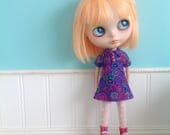 Blythe Dress - The Twiggy in Funky Geometric - Purple! #2