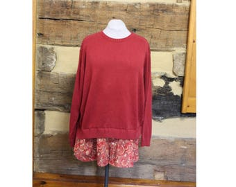 Lagenlook Tunic Top Womens Oversized Reconstructed Sweater  Upcycled Hippie Clothes Boho Clothing Recycled Rustic Fall Autumn Plus Size