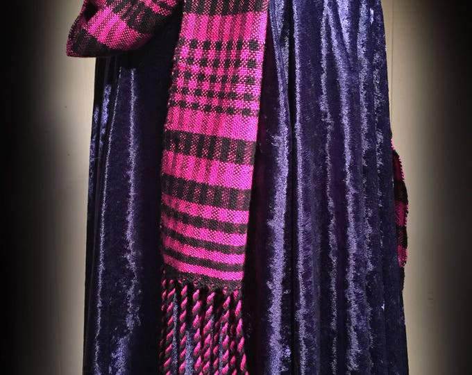 Pink Scarf, woven Scarf, Handmade Scarf, Silk Ladies Scarf, Womens scarf, light scarf, For Her, Birthday Gift, Wrap, Accessory