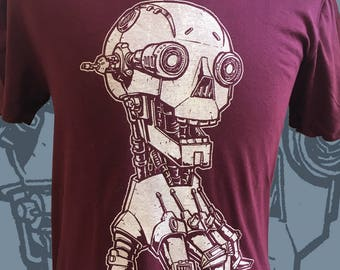 Skull Hand Robot Mens Tee - Android Hand Crawler shirt