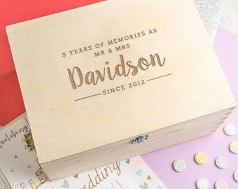 5th Anniversary gift for her or him Personalized