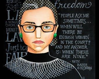 Ruth Bader Ginsburg RBG Dissent Print