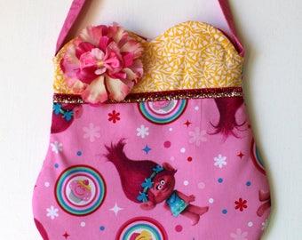 Poppy Troll Purse, girls purse, toddler purse, spring purse, girlie purse