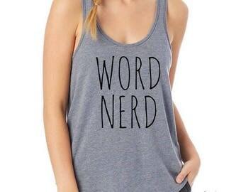 Word Nerd Ladies Backstage Tank Top Shirt
