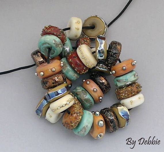 DSG Beads~Artisan Debbie Sanders Handmade Lampwork Glass Beads~Swedish Chunky Discs~Made To Order