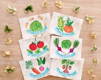 Companion planting postcards . Gardening . Vegetables . Veggie Patch . Garden lover . Plant lover . Hobby Garden . Outdoor and Vege lover