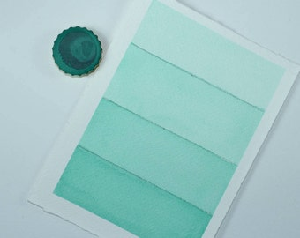 Full Pan or Large Cap - Lichen Turquoise, Anthesis Arts Artisanal Handcrafted Handmade Watercolor Paints, Choose Your Size