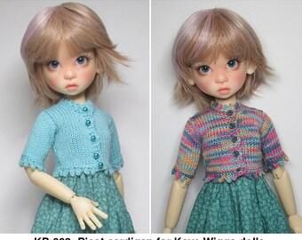 KNITTING Pattern KP-002: Picot cardigan for Kaye Wiggs dolls.  (43cm Mei Mei and 45cm MSD)