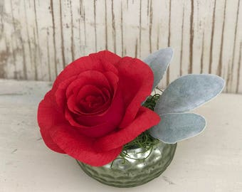 Crepe Paper Flower - Mini Arrangement- Valentines Day - Anniversary Gift - Hostess Gift - Birthday Gift