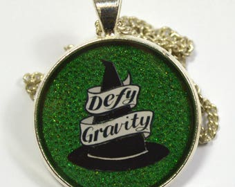 Defy Gravity Wicked Witch Resin Pendant