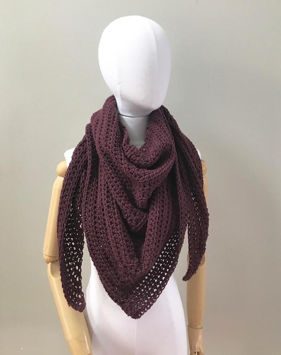 Wool Triangle Wrap Shawl