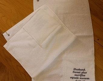 Pocket Workout Sweat Towel - Gym Towel - Yoga Towel - Golf Towel - Sports Towel - Custom Towel - Active Towel - Gym Towel - Personalized