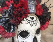 Halloween Day of the Dead Flower Crown — Ready to ship
