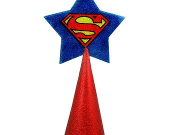 Superman logo Christmas Tree Topper