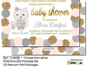 Owl baby shower Etsy