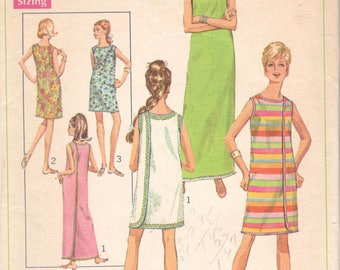 Simplicity 7572 1960s  Misses 3 Armhole  Wrap Dress Pattern Womens Vintage Sewing Pattern Size Small Bust 31 32
