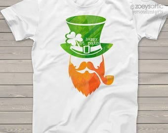 St. Patrick's Day happy st patricks day adult unisex tshirt - perfect for St. Pat's parade and parties SNLS-052