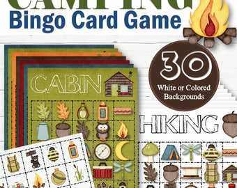 30 Camp Bingo Cards - INSTANT DOWNLOAD
