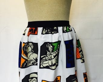"""Star Wars Rebels Ladies Skirt from upcycled fabric -  Fits Size  30"""" - 35"""" waist"""
