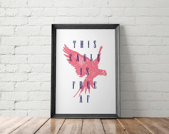 July 4th Poster, July 4th Printable, July 4th Prints, July 4th Wall Decor, Rustic Poster, Farmhouse Poster, Patriotic Poster