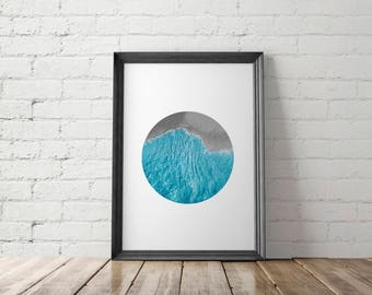 Ocean Print, Ocean Photography, Ocean Printable, Aerial Ocean Photo, Beach Print, Beach Printable, Beach Wall Decor, Aerial Beach Photo