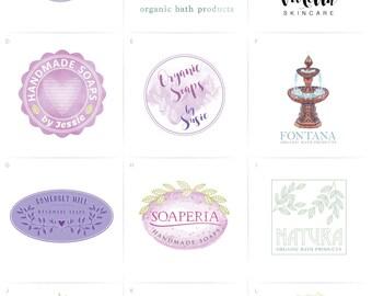 Soap Logo, Spa Logo Design, Organic Soap Logo, Soapmaker Logo, Organic Bath Products Logo, Feminine Logo, Beauty Logo, Cosmetics, Spa Logo