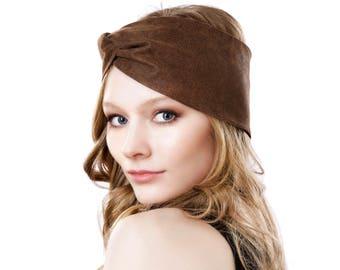 Turban Hat Women's Headband Hair Accessory Leather Headband Leather Hat Ear Warmer Ear Muff Fall Fashion Accessories Leather Turban