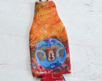 Aries Beverage Insulator - Bottle Cover - Soda Bottle Cover - Zodiac Gifts for Aries - Drink Insulator - Bottle Insulator - Bottle Hugger