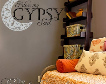 Bless My Gypsy Soul Wall Decal -