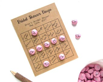 Custom Bingo Cards - Bridal Bingo Cards - Heart Theme - Bridal Shower Bingo - Personalized Bingo Card - Rustic Bridal Shower - Blank Cards