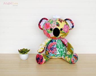 Koala Softie Sewing Pattern PDF Sewing Pattern Koala Stuffed Animal Pattern