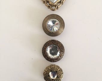 Assortment of Decorative Rhinestone Buttons Covers