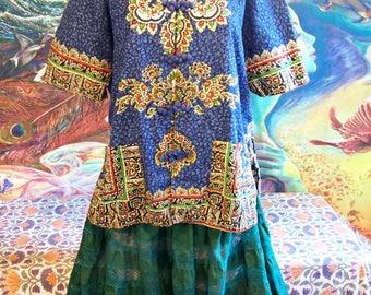 SALE, Thai, Shirt, Thailand, Cotton, Top, Unisex, size M / L