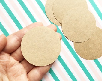 blank brown craft paper stickers. plain circle label stickers. birthday wedding christmas gift wrapping. snail mail. 5cm ( 2in ). set of 25