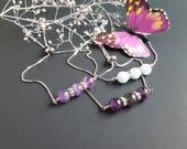 February Birthstone Amethyst Bracelet Women Slider Bracelet Beaded Bracelet Gift for Her Natural Amethyst Gemstone Bracelet Healing Energy