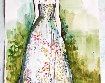Untitled // ORIGINAL Dior sketch / fashion drawing